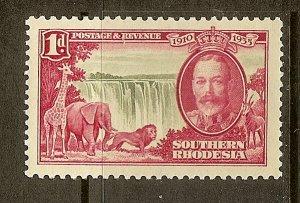 Southern Rhodesia, Scott #33, 1p Silver Jubilee, MNH