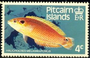 Fish, Cheekspot Wrasse, Pitcairn Islands SC#232 MNH
