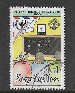 SEYCHELLES, 712, USED, LITERACY YEAR 1990