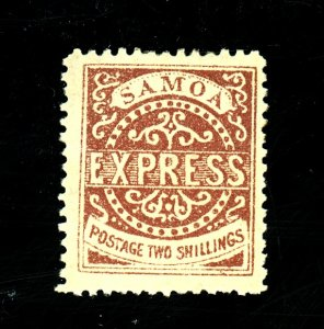 Samoa #7d MINT FVF OG Large HR Small Thin Cat$235