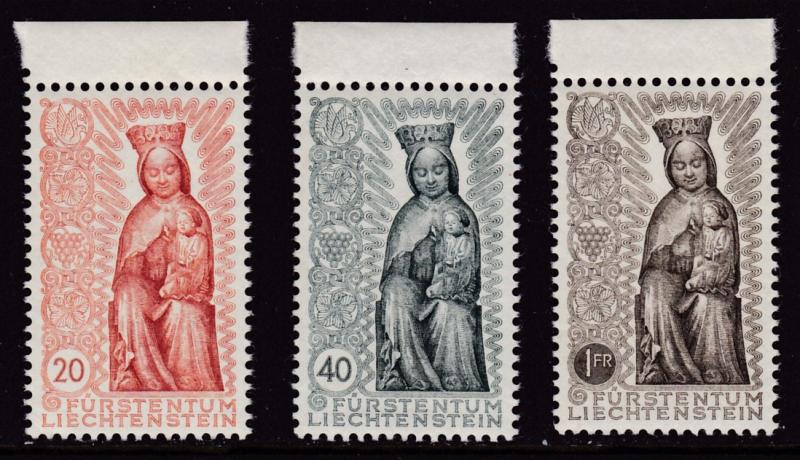 Liechtenstein  1954 Madonna in Wood complete (3) VF/NH(**)