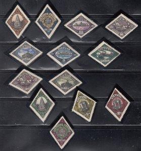 Lithuania, Sc 176-188, MLH, 1923, Incorporation of Memel