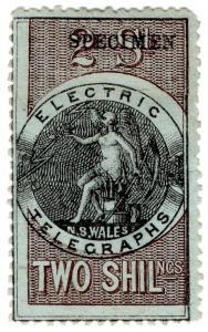 (I.B-CK) Australia Telegraphs : NSW Electric Telegraphs 2/-