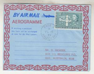 BRITISH ANTARCTIC TERRITORY, 1971 1s. on Aerogramme, Base Z, Halley Bay.