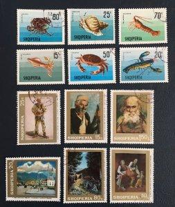 Albania, 1968,Sc#1170-6,1158-63,printing, Squid,sea
