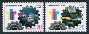 Korea South 1052-1053,MNH.Mi 1070-1071.Economic Development Rive-Year Plan,1977.