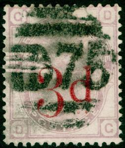 SG159, 3d on 3d lilac PLATE 21, USED. Cat £145. DG