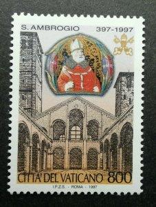 Vatican John Paul II Death Of Sant Ambrogio 1997 (stamp) MNH
