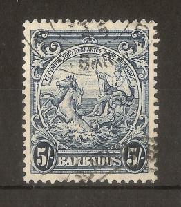 Barbados 1941 5/- SG256A Fine Used