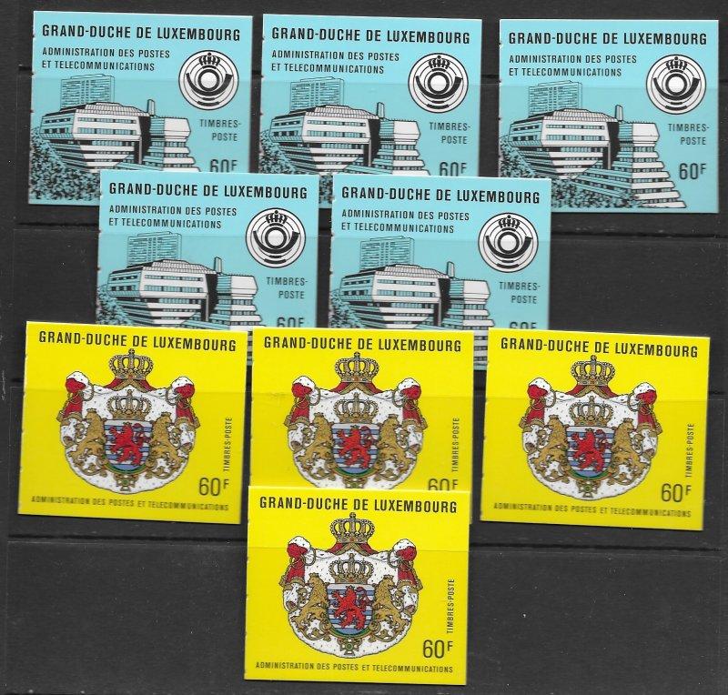 Luxembourg  756a,7a,b, 811b, see desc. 2020 CV $86.25