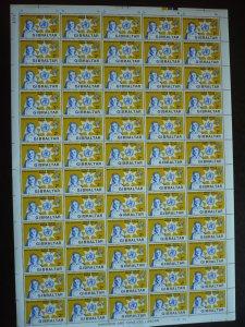 Gibraltar - Full Sheet of 60 Stamps - World Health Organisation