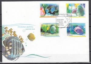 Belarus, Scott cat. 608-611. Discus Fish issue. First day Cover. *