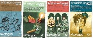 NICARGUA # 919-22 SIR WINSTON CHURCHILL