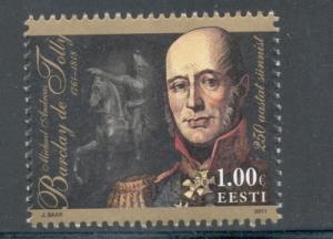 Estonia Sc 686 2011 de Tolly stamp mint NH