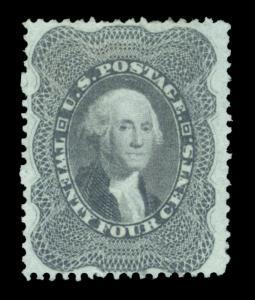 US 1860  Washington  24c gray lilac  Scott# 37  UNUSED  VF