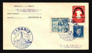 Philippines 1944 Kapariz Event Cover - L4828