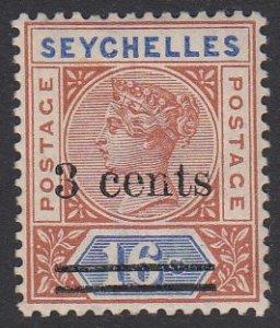 Seychelles 30 MVLH CV $7.00