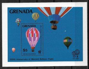 1983 Grenada 1174 Manned Flight Bicentenary MNH S/S
