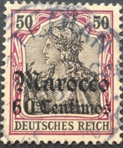 German Post Office in Morocco 1905 60 Centimos with TETUAN postmark