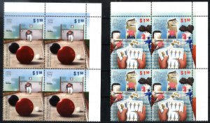 ARGENTINA 2010 UPAEP AMERICA TRADITIONAL GAMES BLOCx4 YV 2873-4 Mi 3365-6 MNH