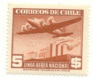 CHILE #C67, Mint Hinged, Scott $17.00