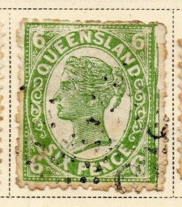 Queensland 1897-1900 Early Issue Fine Used 6d. 326852