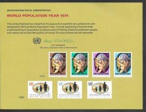 UN-NY # SC6 World Population Year    1974 (1) Mint NH