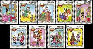 Grenada 1175-1183, MNH, Disney Christmas 1983