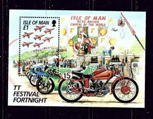 Isle of Man 705 MNH 1996 Motorcycles S/S