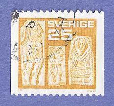 Sweden Scott #1113 Gold Men CV $.20, Used