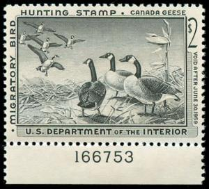 momen: US Stamps #RW25 Duck Mint OG NH XF-SUP