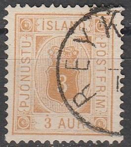 Iceland #O4 F-VF Used CV $82.50 (D4609)