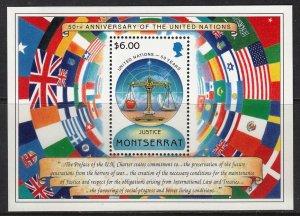 MONTSERRAT 1995 UNITED NATIONS 50th ANNIVERSARY NATIONS UNIES [#B113]