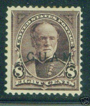 GUAM Scott 7 mint hinged 19th century OPT Sherman stamp