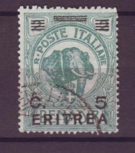 J21226 Jlstamps 1922 eritrea used #59 elephant ovpt