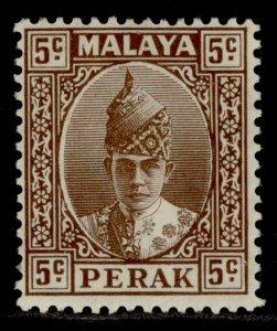 MALAYSIA - Perak GVI SG108, 5c brown, M MINT.