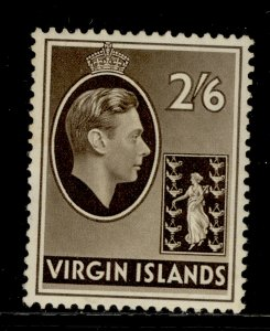 BRITISH VIRGIN ISLANDS GVI SG118, 2s 6d sepia, M MINT. Cat £70. CHALKY