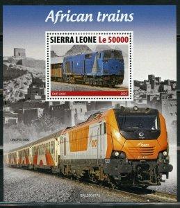 SIERRA  LEONE 2020 AFRICAN TRAINS SOUVENIR SHEET MINT NH