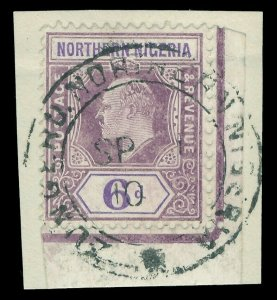 Northern Nigeria 1906 KEVII 6d dull purple & violet (CH) very fine used. SG 25b.