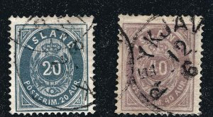 Iceland Attractive Sc#17-18 Used F-VF SCV $125...Such a bargain!!