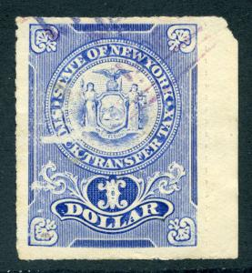 NY ST5b Used - New York Stock Transfer - Cut Cancel