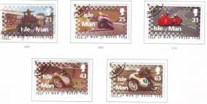 Isle of Man Sc 788-92 1998 TT Races stamp set mint NH
