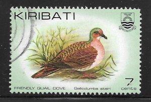 Kiribati 388: 7c Friendly Quail Dove (Gallicolumba stairi), used, VF