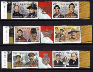 Isle of Man 2000,Military Leaders  MNH Pairs set  # 861-863