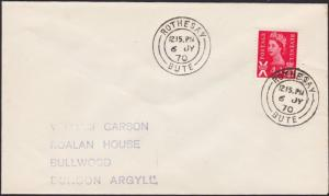 GB SCOTLAND 1970 cover ROTHESAY / BUTE cds..................................1174