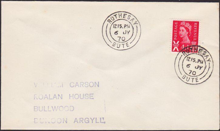 GB SCOTLAND 1970 cover ROTHESAY / BUTE cds.................................1174*