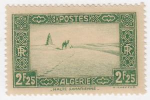 Algeria, Sc # 93, MH, 1937, Camel in the Desert