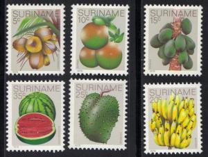 Surinam 1978  MNH Fruits citrus banana cacao melon