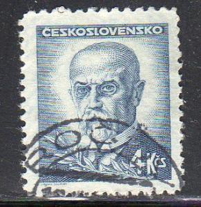 Czechoslovakia 297A - Used - Pres. Thomas G. Masaryk (4)