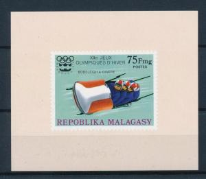 [55763] Madagascar 1975 Olympic games Bobsleigh MNH Sheet
